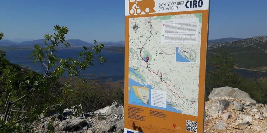 Ciro bike route from Dubrovnik to Sarajevo