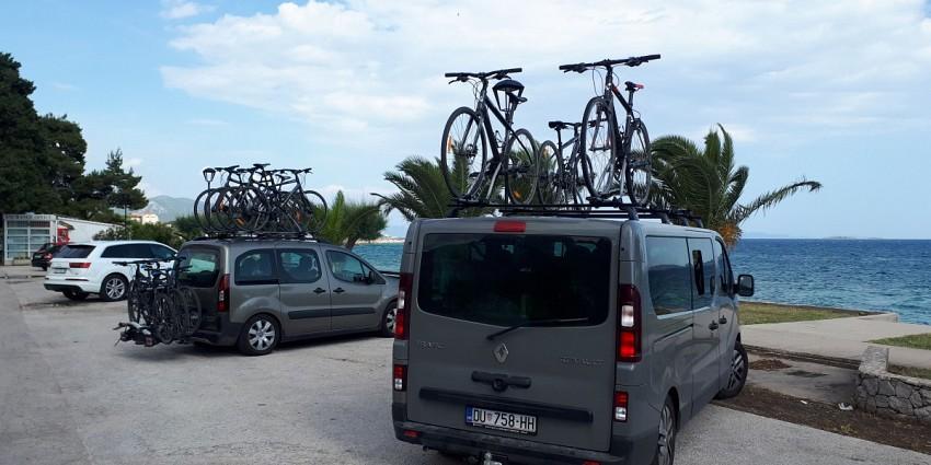 Biking Croatia coast