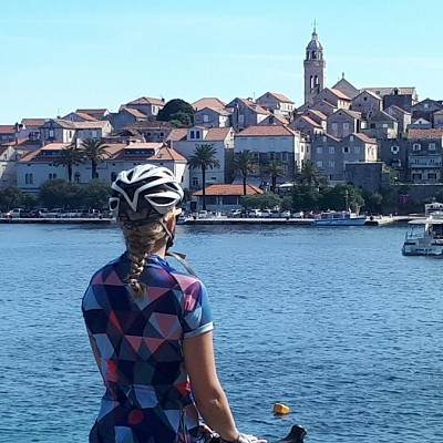 Biking Croatia coast